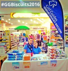 Girl Guides Gold Coast biscuit sales 2016